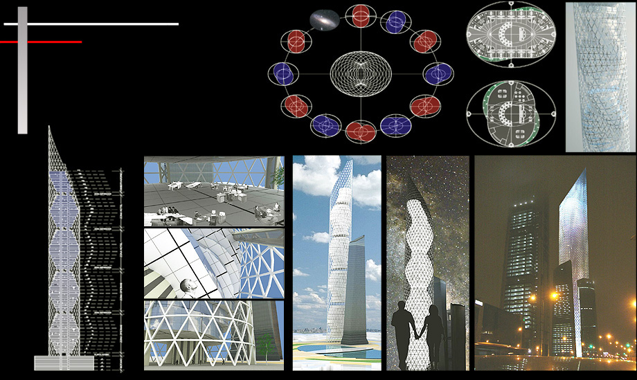 Architecture Proposal Orbital Tower - Architect in Madrid