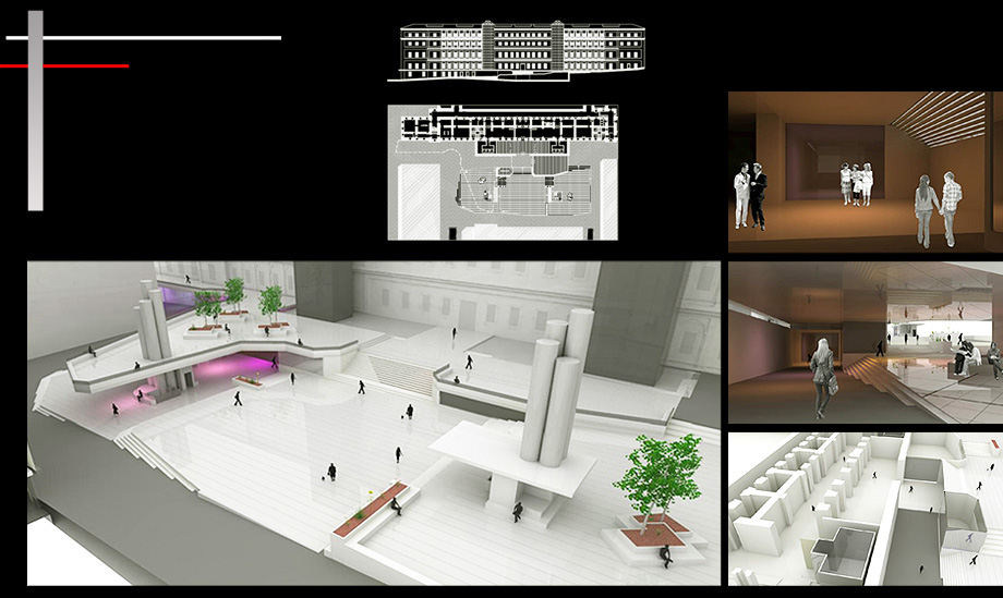 Architecture Proposal Reina Sofia Square Remodeling - Architect in Madrid