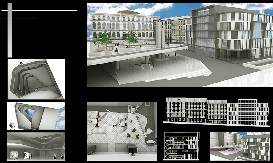 Architecture Proposal Reina Sofia Square Building - Architect in Madrid