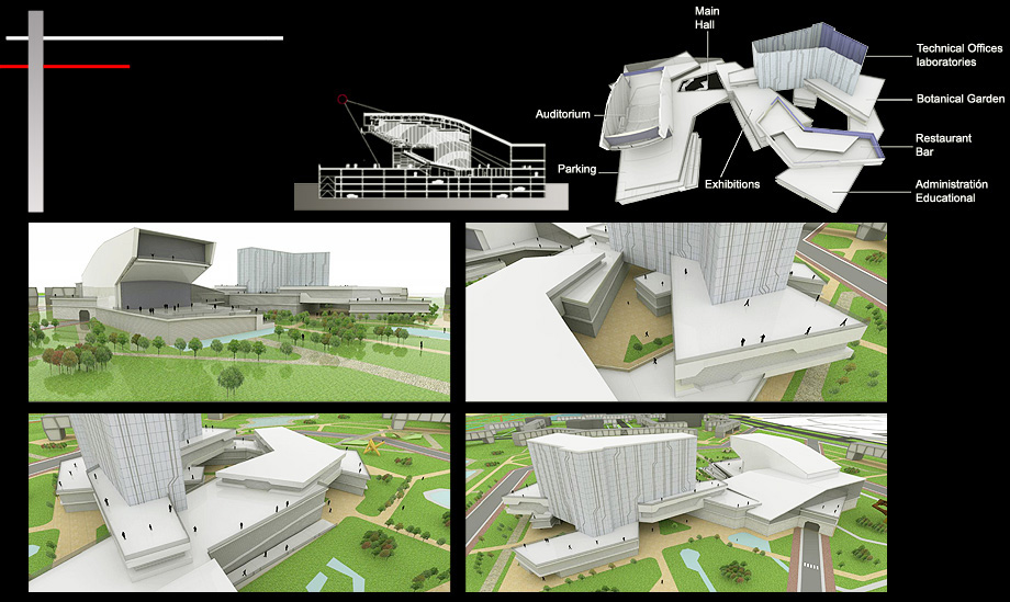 Architecture Proposal Building Science Forum - Architect in Madrid